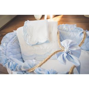 Moses Basket in Blue
