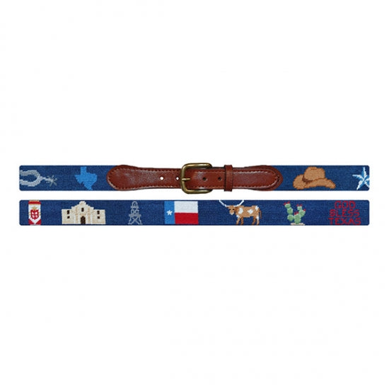 Texas Life Needlepoint Belt