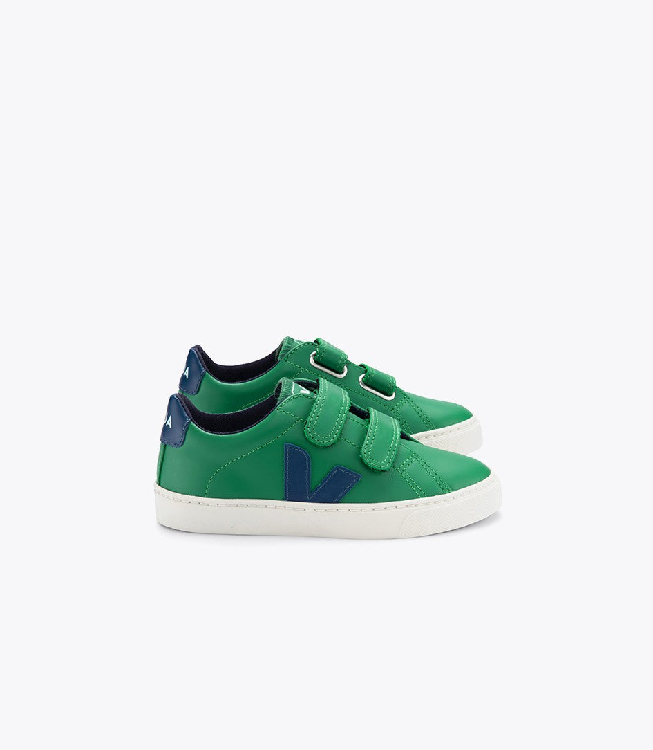Esplar Velcro Sneaker in Emeraude Green