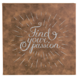 Find Your Passion - Wall Art Rustic Synthetic Leather