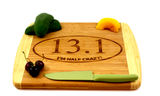 Personalized Engraved Bamboo Cutting Board, 13.1 Half Marathon, Gift for Runner