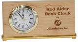 "7 1/2"" x 4"" Black Piano Finish Horizontal Desk Clock"