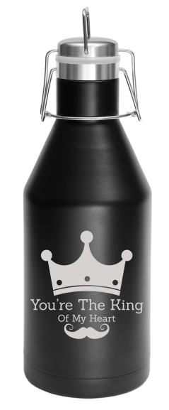 64 oz. Black Vacuum Insulated Growler with Swing-Top Lid
