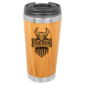 15 oz. Bamboo Stainless Steel Tumbler