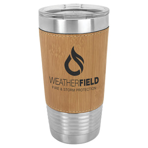 20 oz. Laserable Leatherette Tumbler with Clear Lid