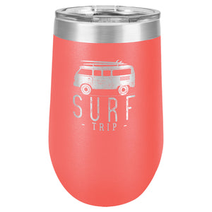 16 oz. Stainless Steel Vacuum Insulated Stemless Tumbler with Lid