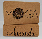 Personalized Cork Yoga Block