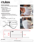 Tultex Face Mask - Reusable, Washable, Breathable