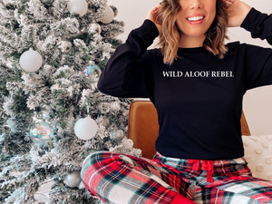 Black Wild Aloof Rebel Sweatshirt Unisex from David Rose / Aloof Rebel Sweatshirt / ICON / Wild aloof rebel shirt