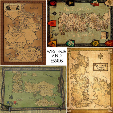 Game of thrones world map poster the merchcity game of thrones world map poster the merchcity gumiabroncs Choice Image