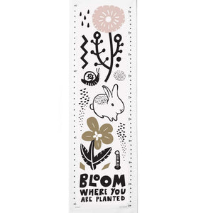 Wee Gallery Canvas Growth Chart- Bloom - Lola & Lark