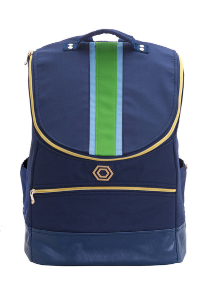 Navy with Aqua and Green Classic