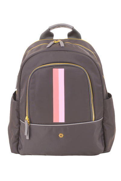 Grey with Coral & Blush Slim Backpack