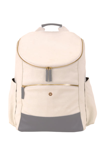 Natural & Grey Classic Backpack - Create Your Own