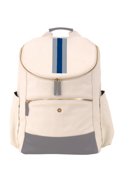 Natural & Grey with Navy Classic Backpack