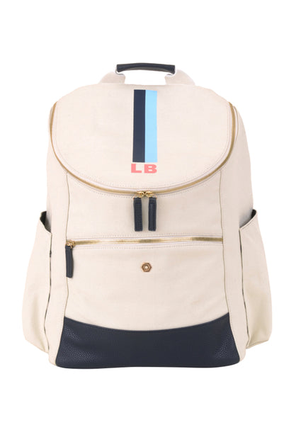 Natural & Navy with Light Blue Classic Backpack