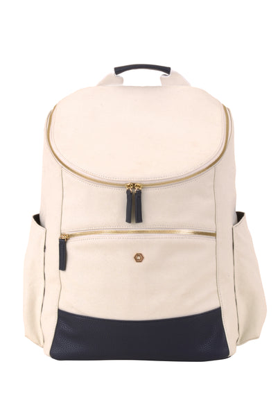 Natural & Navy Classic Backpack - Create Your Own