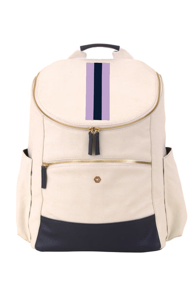 Natural & Navy with Lavender Classic Backpack