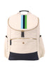 Natural & Navy with Light Blue, Navy, & Green Classic Backpack