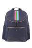 Navy with Pink, Green & Light Blue Classic Backpack