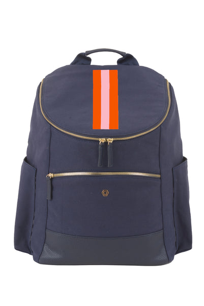 Navy with Pink & Orange Classic Backpack