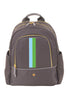 Grey with Aqua & Green Slim Backpack