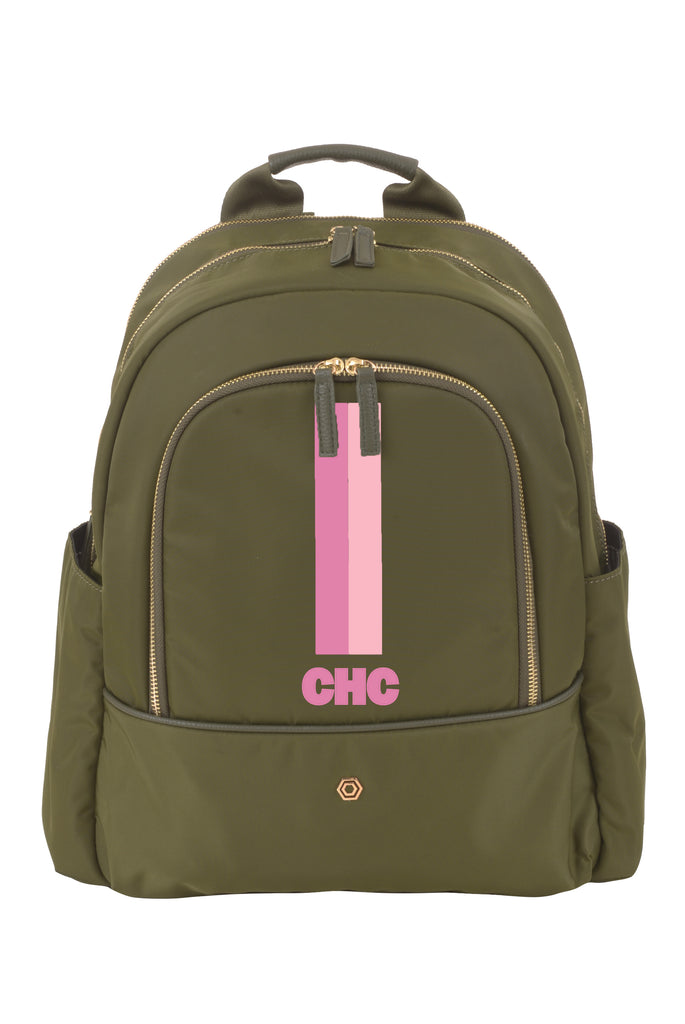 Green with Pink & Blush Slim Backpack