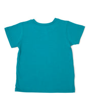 Me Do. Learn-to-Dress Aqua Tee Shirt Back