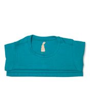 Me Do. Learn-to-Dress Aqua Tee Shirt Interior Back