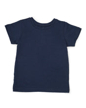 Me Do. Learn-to-Dress Navy Tee Shirt Front