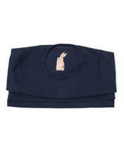 Me Do. Learn-to-Dress Navy Tee Shirt Interior Front