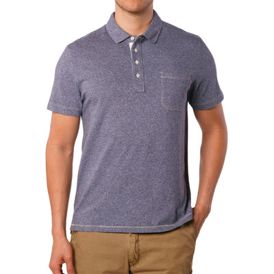 Crown Blue – Dixon Twist Yarn Jersey Polo