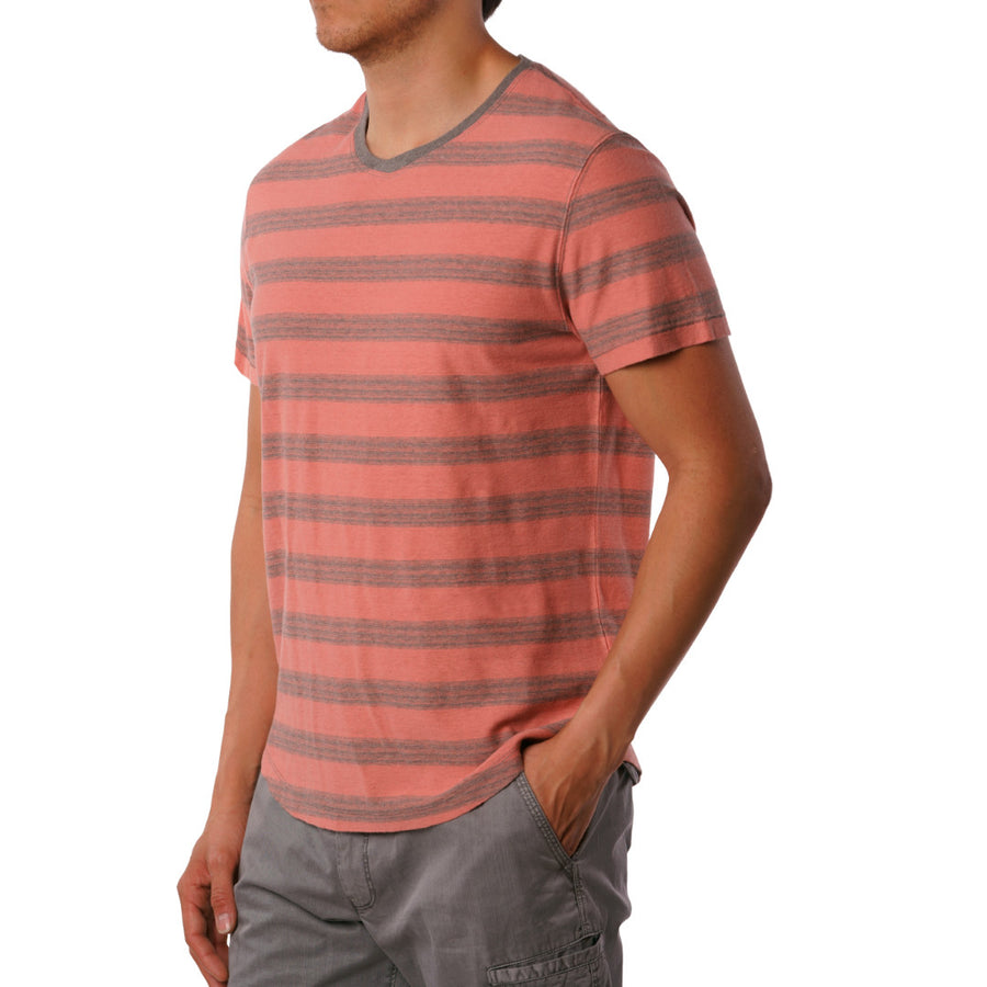 Ventura linen cotton striped V-neck