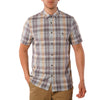 Cecil Herringbone Plaid short sleeve button down