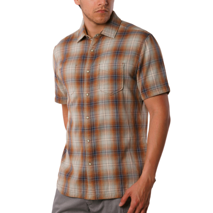 Badlands Reversible Print short sleeve with Plaid