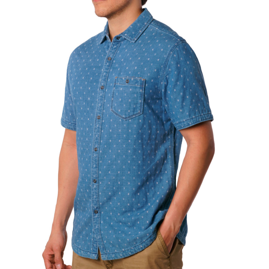 Kit – Reversible indigo short sleeve jacquard