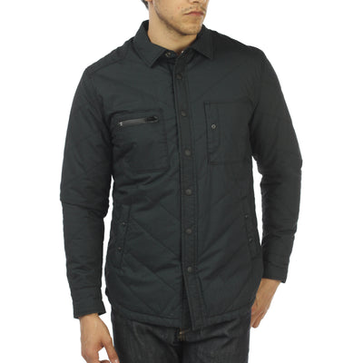 SAGE Quilted Shirt Jacket Black