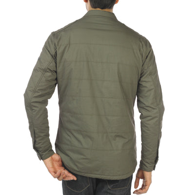 SAGE Quilted Shirt Jacket Espresso