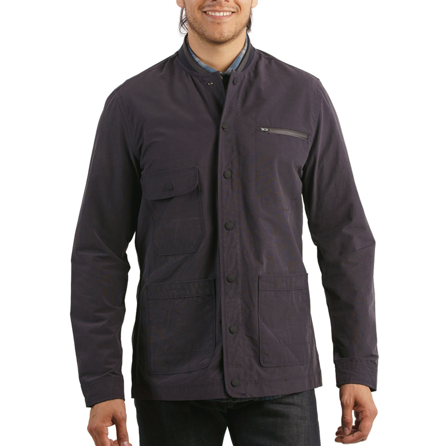 Jarvis Coated Bomber Shirt Jacket