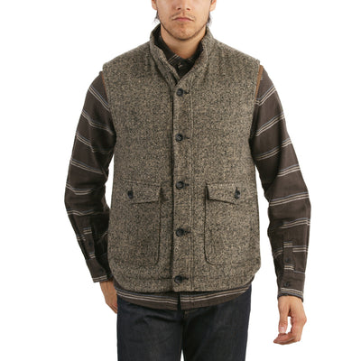 Sanford Herringbone Poly-Wool Vest