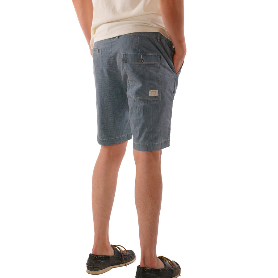 Bryant Stripe Bleached Denim Short