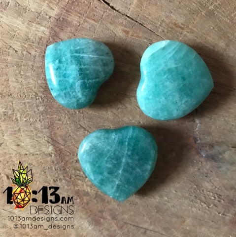 amazonite heart palm stone
