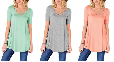 criss cross tunic :: 3 colors available!