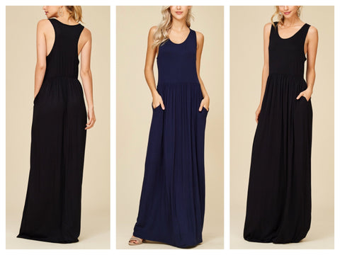 racerback pocket maxi :: 2 colors available!
