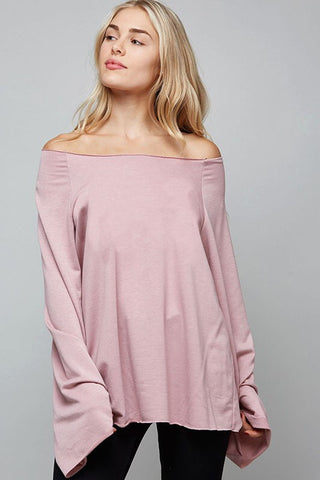 french terry loose fit wide sleeved top :: 2 colors available!