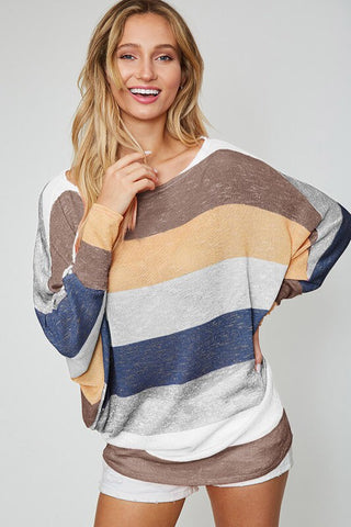 fall rainbow slouchy top