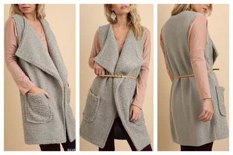 cozy pocket vest :: removable belt!