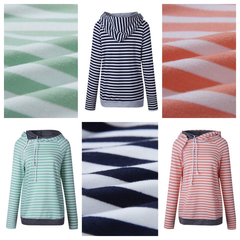 striped double hoodies