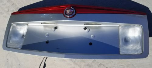 Used Cadillac CTS Trunk Panel License Plate SILVER 2003-2007