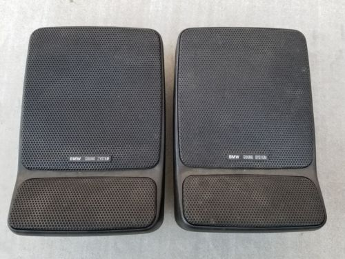 BMW E30 E28 E23 Rear Deck Tray Factory Premium Speaker Driver Pair Black OEM